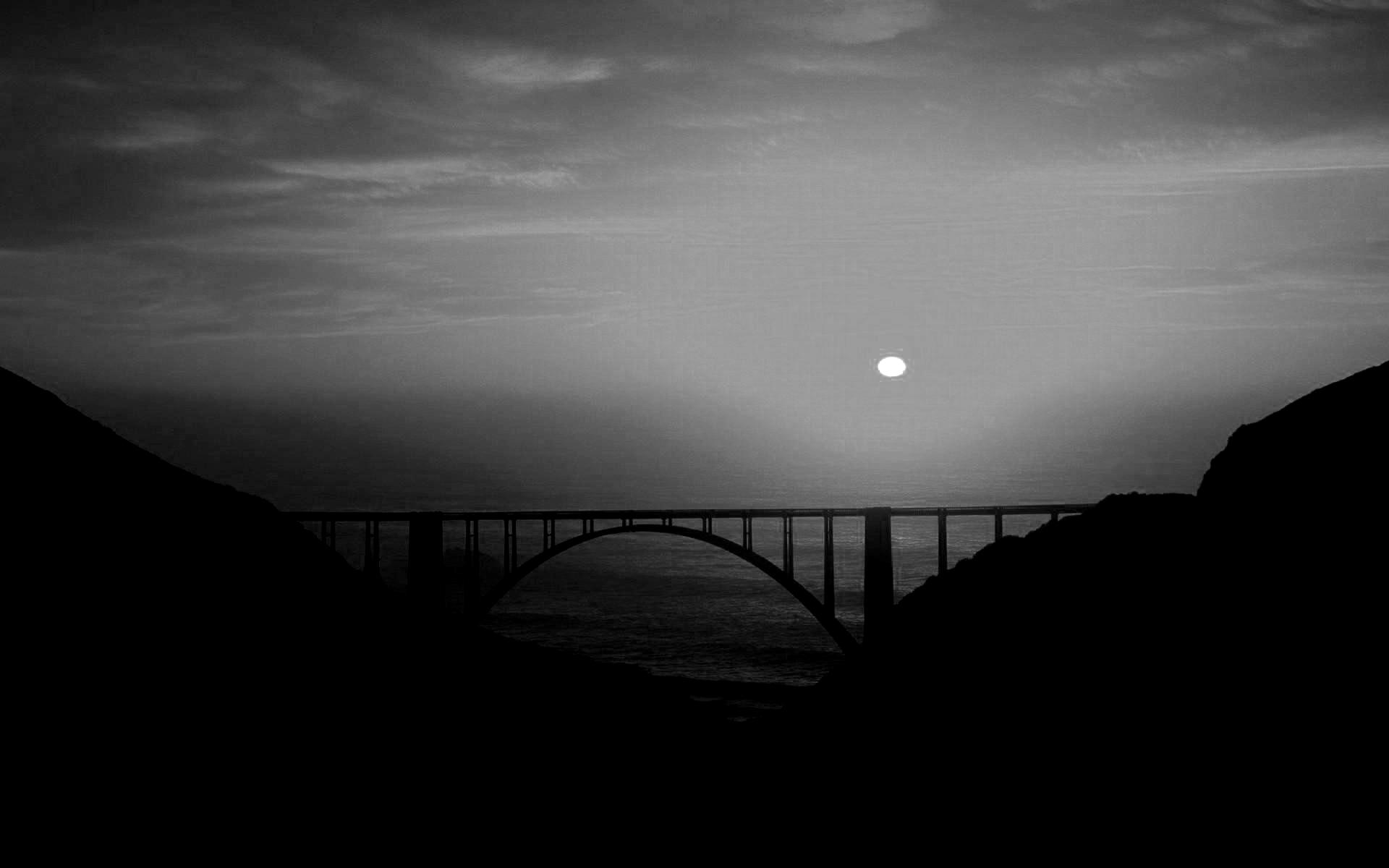 Bridge Coastal Highway Gorge Sunset Sea Beautiful Amazing Picture